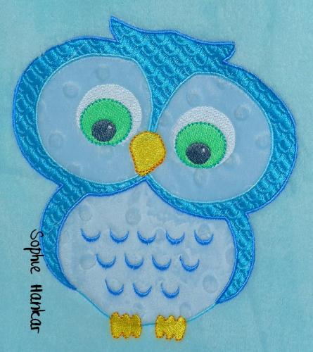 Cute owls free embroidery design