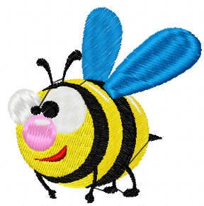 Bee free embroidery design 9