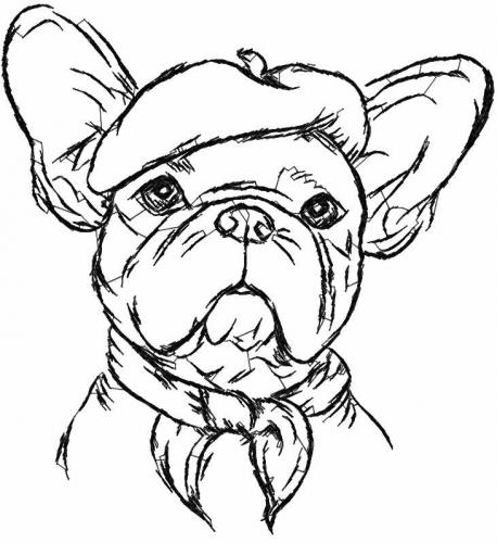 Bulldog free embroidery design