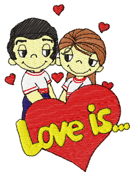 Love is free embroidery design 4