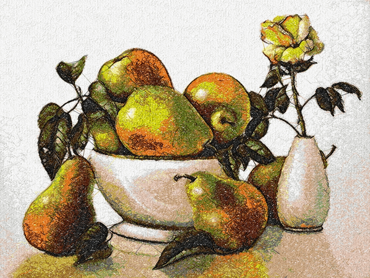 Pears photo stitch free embroidery design