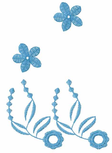 Blue border free embroidery design