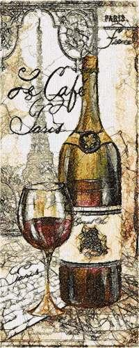 Wine Photo Stitch Free Embroidery Design Photo Stitch