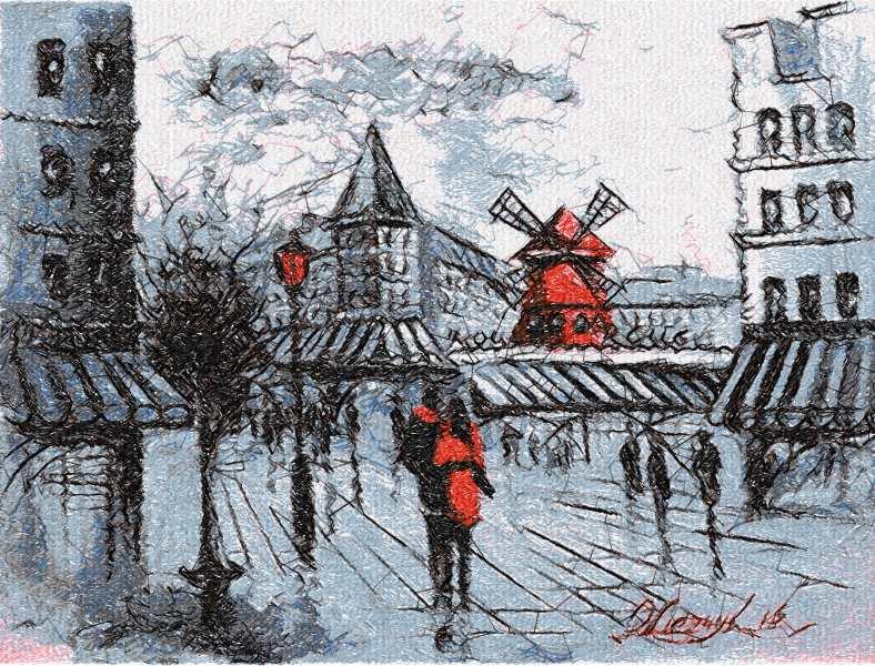 Amsterdam photo stitch free embroidery