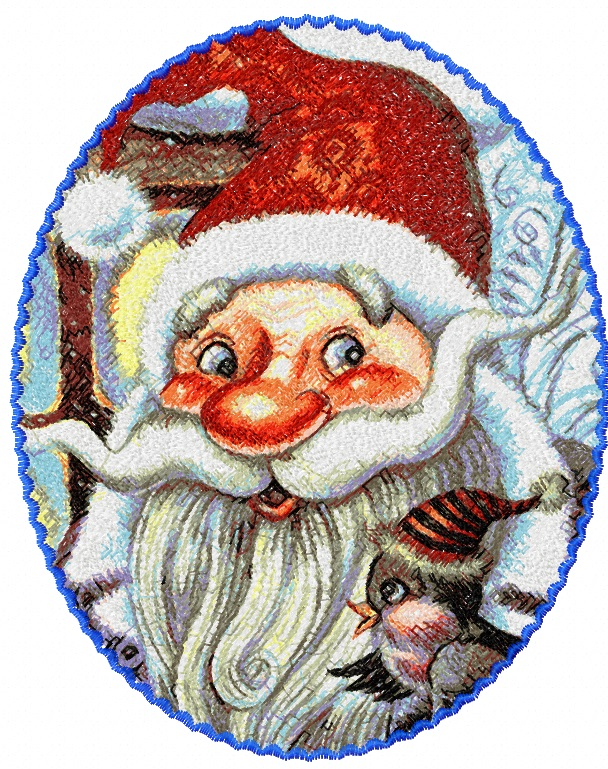 Santa Claus photo stitch free embroidery design