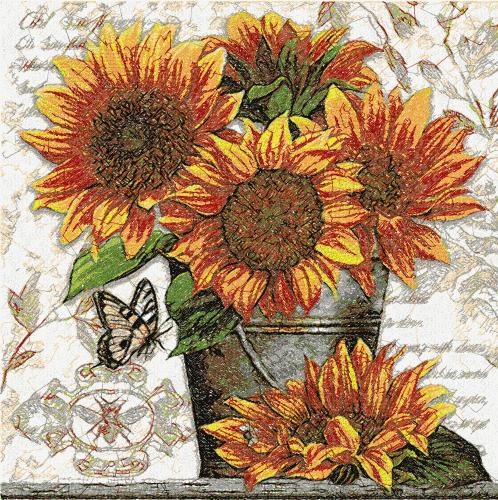 Sunflower photo stitch free embroidery design 8 - Photo ...
