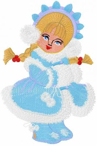 Snow Maiden free embroidery design 9