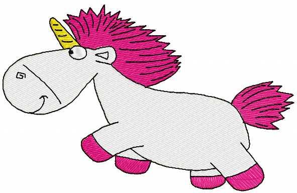 Unicorn free embroidery design