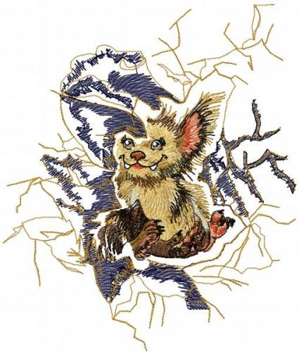 Cute animal free embroidery design 11