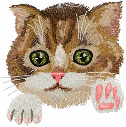 Kitten Free Embroidery Design - Free Embroidery Designs Links And Download - Machine Embroidery ...