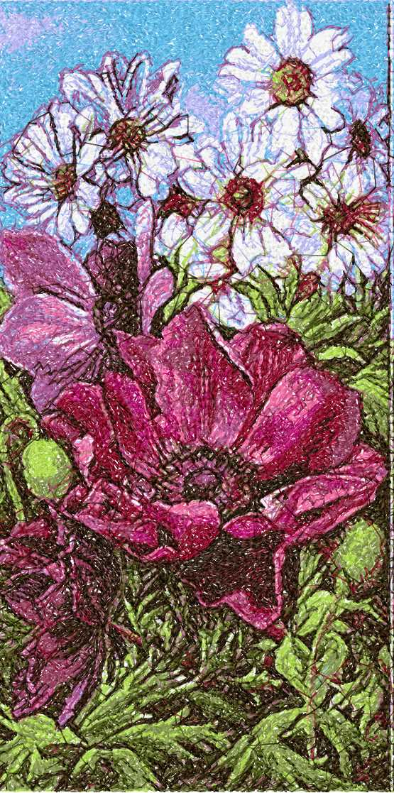 Flowers photo stitch free embroidery design 42