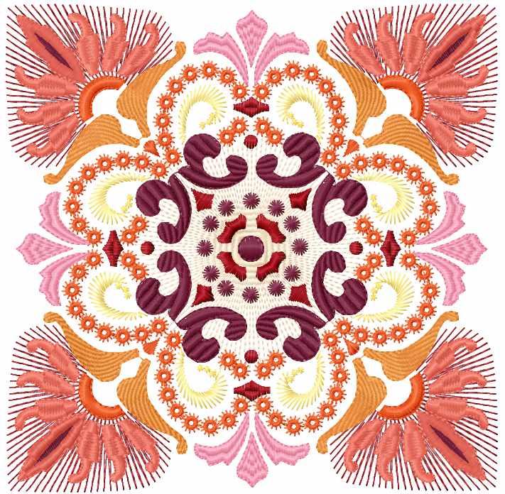 Sun decoration free embroidery design 19