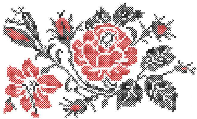 Rose Cross Stitch Pattern Free Embroidery Design Cross Stitch