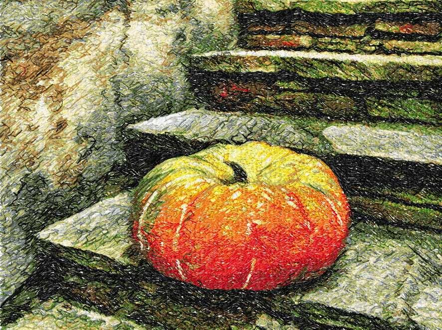 Still life with pumpkin photo stitch free embroidery design