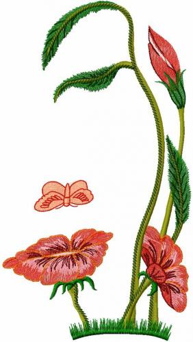 Flowers free machine embroidery designs