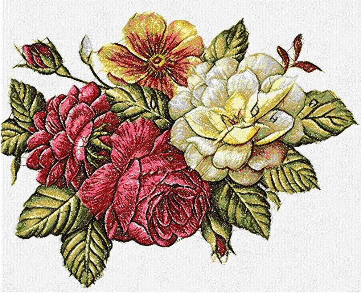 Flower photo stitch free embroidery design 44