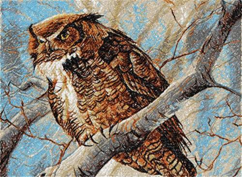 Owl photo stitch free embroidery design 12