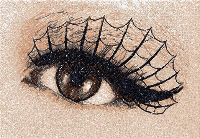 Eye photo stitch free machine embroidery design 3