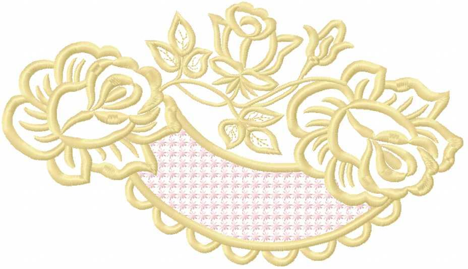 Rose decoration free embroidery design