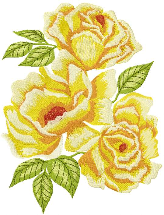 Yellow Rose Free Machine Embroidery Design - Free Embroidery Designs Links And Download ...