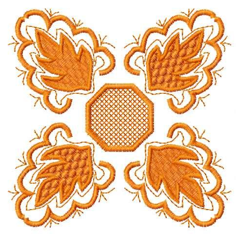 Orange decoration free machine embroidery design