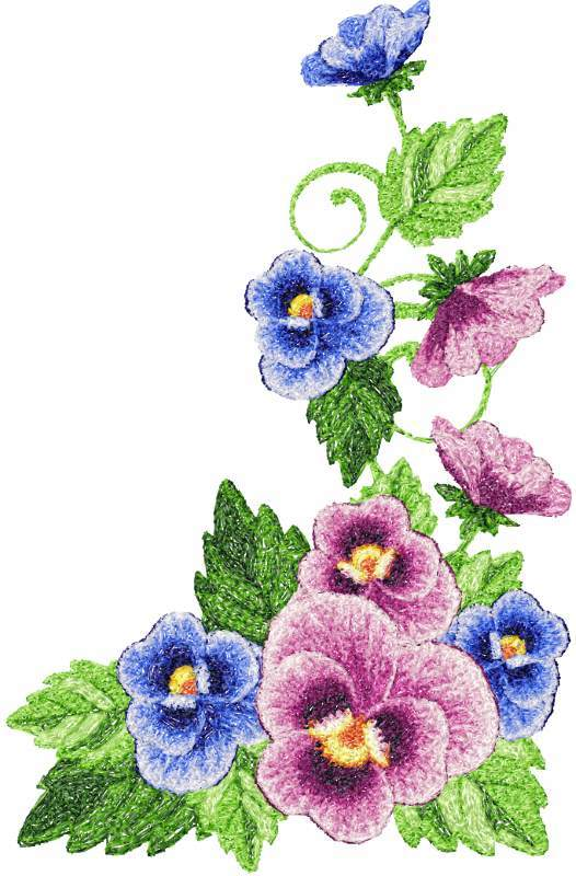 Flowers photo stitch free embroidery design 45