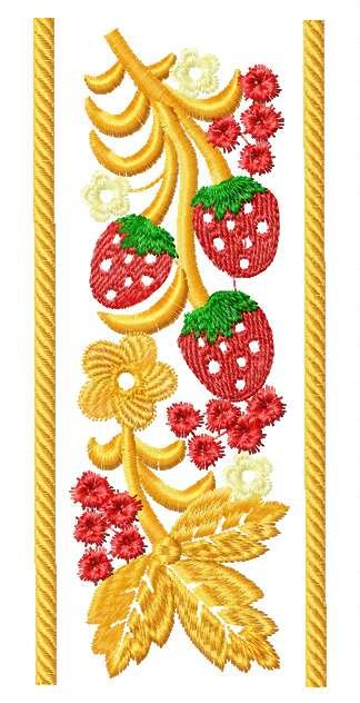 Strawberry Ornament Border Free Embroidery Design Free Embroidery