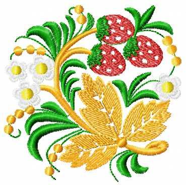 Strawberry Ornament Free Embroidery Design Fruits And Vegetables