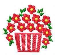 Screenshot for Flowers basket free embroidery design