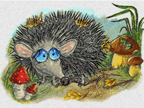 Screenshot for Autumn hedgehog photo stitch free embroidery design