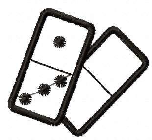 Domino free embroidery design