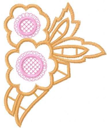 Flower cutwork decoration free embroidery design