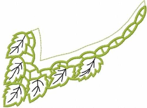 Screenshot for Green lace collar free embroidery design