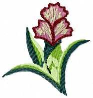 Small flower free embroidery design 41