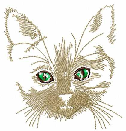 Cat free embroidery design 14