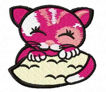 Sleeping cat free embroidery design