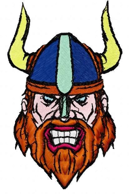Viking free embroidery design