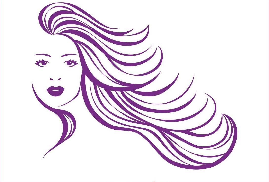 Young woman free embroidery design