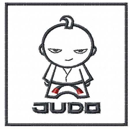 Judo boy free embroidery design