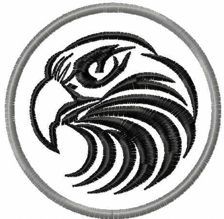 Eagle badge free embroidery design