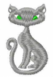 Grey kitty free embroidery design