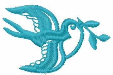 Bird with branch free embroidery design