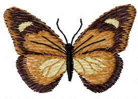 Small butterfly free embroidery design