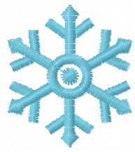 Snowflake free embroidery design 11