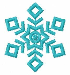 Snowflake free embroidery design 12