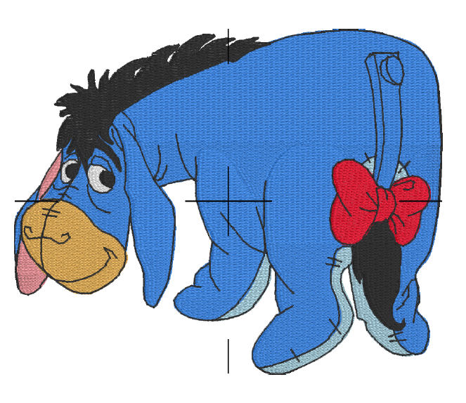 Donkey free embroidery design