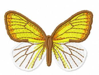Yellow butterfly free embroidery design