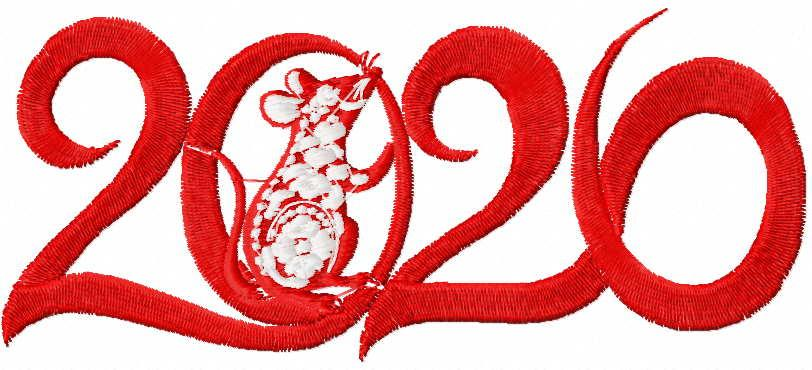 Mouse 2020 free embroidery design