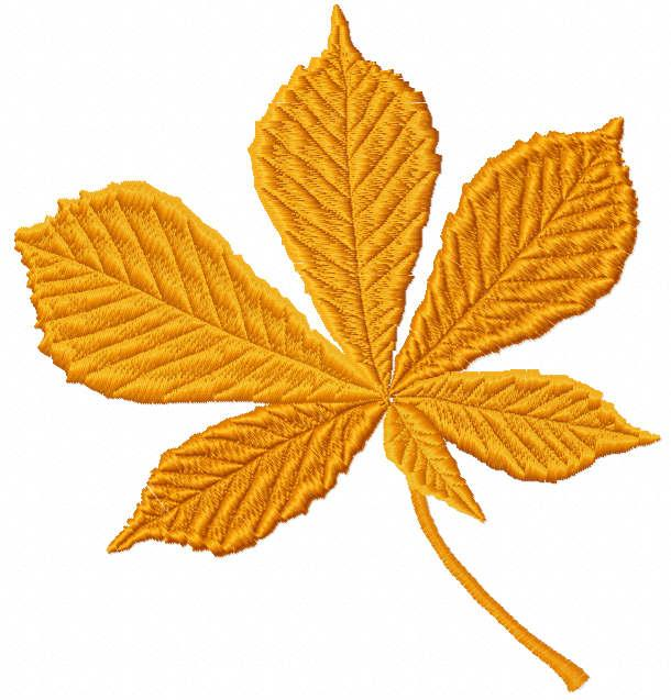 Autumn maple leaf free embroidery design