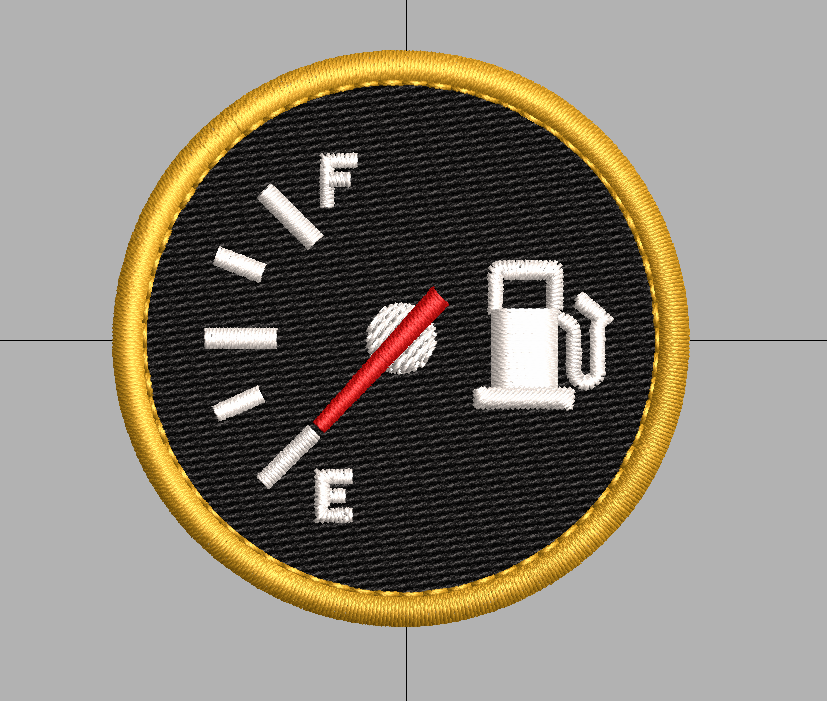 Fuel Gauge free embroidery design